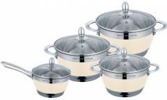 Набор посуды MercuryHaus MC-7017 8 предметов 4,9/2,9/2,1/1,5 л  24/20/18/16 см
