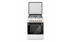 Комбинированная плита Lofratelli  OGE 6040 L OW бежевая верх-газ,чугун низ-электрич,58л,подсветка,RUSTIC
