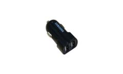 Автомобильное зарядное устройство блочёк Samsung на 2 USB входа 2.1A,1A черный