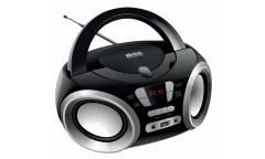 Аудиомагнитола Hyundai H-PCD100 черный/серебристый 4Вт/CD/CDRW/MP3/FM(dig)/USB/SD/MMC