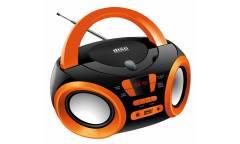 Аудиомагнитола Hyundai H-PCD120 черный/оранжевый 4Вт/CD/CDRW/MP3/FM(dig)/USB/SD/MMC