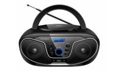 Аудиомагнитола Hyundai H-PCD140 черный/серый 4Вт/CD/CDRW/MP3/FM(dig)/USB/SD/MMC
