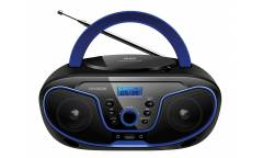 Аудиомагнитола Hyundai H-PCD160 черный/синий 4Вт/CD/CDRW/MP3/FM(dig)/USB/SD/MMC