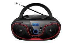 Аудиомагнитола Hyundai H-PCD180 черный/красный 4Вт/CD/CDRW/MP3/FM(dig)/USB/SD/MMC