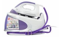 Парогенератор Saturn ST-CC7112 белый/фиолетовый 2400Вт автоотключ,вертик отпар, давл 4,5бар 1,7л