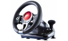 Руль Sven с педалями TURBO, вибро, 12 кнопок, черный, USB