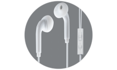 Наушники Ritmix RH-113M Luminous внутриканальные с микрофоном белые