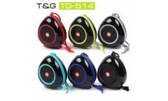 Беспроводная (bluetooth) акустика Portable TG514 Черный + зеленый