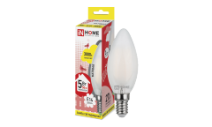 Лампа светодиодная ASD LED-СВЕЧА-deco 5Вт 230В Е14 3000К 450Лм матовая IN HOME