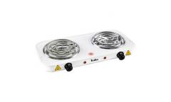 Плитка электрическая TESLER PEO-02 WHITE 2конфорки 2000Вт спираль эмаль