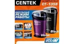 Кофемолка Centek CT-1358 Black (черн) 200Вт, 60 г, 6 ЧАШЕК АРОМАТНОГО КОФЕ, прозрачная крышка