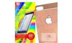 Защитное стекло цветное Krutoff Group для iPhone 5/5S на две стороны с 3D-рисунком (rose gold)