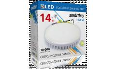 Светодиодная (LED) Tablet GX53 Smartbuy-14W/6000K/Мат стекло (SBL-GX-14W-6K)