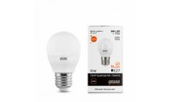 Лампа светодиодная GAUSS _G45_8W/2700K_E27 _шар