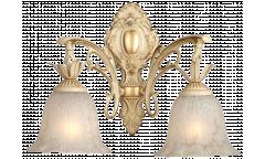 Бра_DE FRAN_ YP2-3232-2WCR _E27 _2*40Вт КЛАССИКА, античный кремовый, стекло с узором