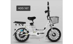 Электровелосипед Yanlin 167 White