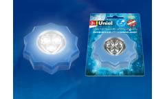 Светильник-ночник Uniel DTL-357 Звезда/Blue/3LED/3АAA (в комплект не входят)