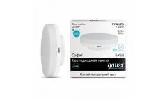 Лампа светодиодная GAUSS _GX53_11W/4100K _таблетка