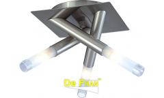 Светильник потолочный галогенный_DE FRAN_ CK-022-3 _3*G9 _матовое стекло, сатин-никель, d22*h21см