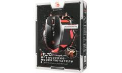 Мышь A4Tech Bloody TL70 Terminator черный/серый лазерная (12000dpi) USB3.0 (9but)