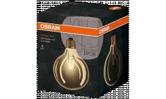 Лампа светодиодная OSRAM_G125_4.5W/825_E27 _FILAMENT_VINTAGE_ янтарный шар глоб