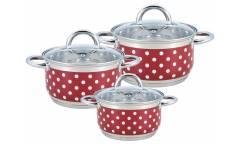 Набор посуды MercuryHaus MC-7051 6 предметов 3,6/2,6/1,9 л  20/18/16 см