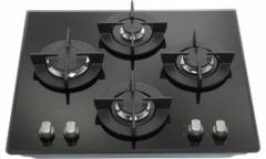 Газовая варочная поверхность Hotpoint-Ariston 641 DD (BK) черное стекло чр газ-контроль автоподжиг