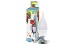 Лампа светодиодная ASD LED-СВЕЧА НА ВЕТРУ-standard 7.5Вт 230В Е14 4000К 675Лм