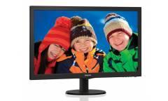 "Монитор Philips 27"" 273V5LHAB (00/01) черный TN+film LED 5ms 16:9 DVI HDMI M/M матовая 300cd 1920x1080 D-Sub FHD 4.53кг"