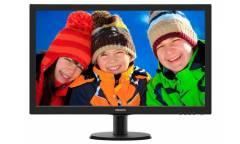 "Монитор Philips 27"" 273V5LSB (00/01) черный TN+film LED 5ms 16:9 DVI матовая 300cd 1920x1080 D-Sub FHD 4.53кг"