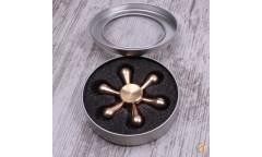 Спиннер антистресс металлический, арт 009960 (Золотой)