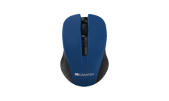 mouse CANYON Mouse CNE-CMSW1 Wireless, Optical 800/1000/1200 dpi, 4 btn, USB, Blue