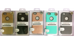 Силиконовая накладка +  пластик iphone 6 Plus золото в уп.