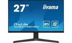 """Монитор Iiyama 27"""" ProLite XUB2796HSU-B1 черный IPS LED 1ms 16:9 HDMI M/M матовая HAS 250cd 178гр/178гр 1920x1080 DisplayPort FHD USB 5.4кг"""