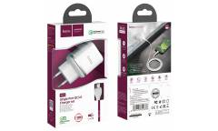 CЗУ Hoco N3 Special single port QC3.0 charger set + Type-C White