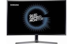 "Монитор Samsung 27"" C27HG70QQI черный VA LED 1ms 16:9 HDMI матовая HAS Pivot 3000:1 350cd 178гр/178гр 2560x1440 DisplayPort QHD USB 6.3кг"