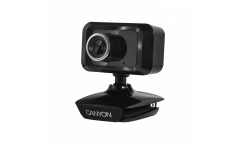 cam CANYON Enhanced 1.3 Megapixels resolution webcam with USB2.0 cable length 1.25m, Black