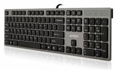 Клавиатура A4 KV-300H серый/черный USB slim