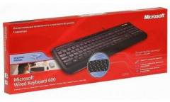 Клавиатура Microsoft Wired 600 черный USB Multimedia