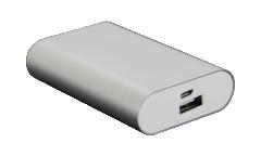 Внешний аккумулятор Ab S-5600X 5200mAh (серебристый)