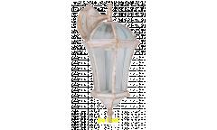 """Светильник сад.-парк._DE FRAN_ EL-640DN E27 60Вт IP44 металл белый c золотом, """"Дворянский"""" вниз"""