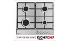 Газовая варочная поверхность Kuchenchef KHG611AIX нержавеющая сталь