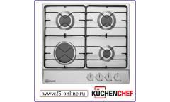 Газовая варочная поверхность Kuchenchef KHG610X нержавеющая сталь
