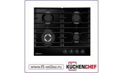 Газовая варочная поверхность Kuchenchef KHG611WAS черный