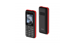 Мобильный телефон Maxvi P1 black-red