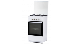 Плита Газовая Flama FG 24022 W белый,ст.кр,ч/р 85*50*60см