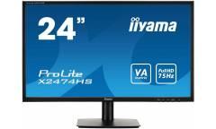 "Монитор Iiyama 23.6"" X2474HS-B1 черный VA LED 4ms 16:9 HDMI M/M матовая 250cd 178гр/178гр 1920x1080 D-Sub DisplayPort FHD 3.2кг"