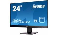 "Монитор Iiyama 23.8"" ProLite XU2492HSU-B1 черный IPS LED 5ms 16:9 HDMI M/M матовая 250cd 178гр/178гр 1920x1080 D-Sub DisplayPort FHD USB 3.6кг"