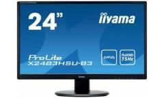 "Монитор Iiyama 24"" ProLite B2483HS-B3 черный VA LED 1ms 16:9 M/M матовая HAS Pivot 1000:1 250cd 170гр/160гр 1920x1080 D-Sub DisplayPort FHD 5.1кг"
