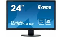 "Монитор Iiyama 24"" ProLite E2483HS-B3 черный TN+film LED 1ms 16:9 HDMI M/M матовая 1000:1 250cd 170гр/160гр 1920x1080 D-Sub DisplayPort FHD 3.4кг"